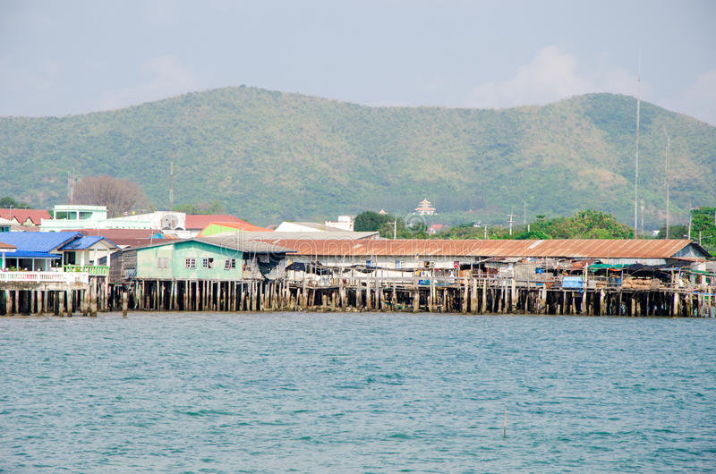 Rayong Sattahip, Thailand : Home stay in the bay. stock photography