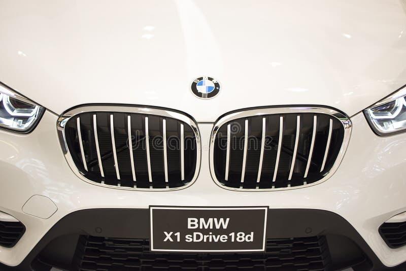 Rayong, Tailândia - 14 de janeiro de 2017 exposição automóvel de BMW fotos de stock royalty free