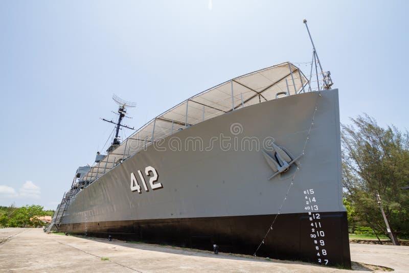Remembrance luang prasae Battleship Frigate 412 originally royalty free stock image
