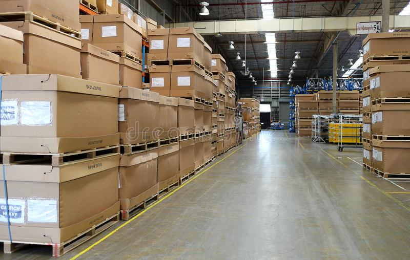 Warehouse at Thailand for keep material stock photo