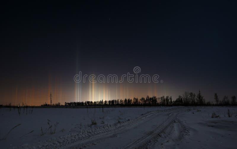 Rayonnement multicolore dans l'atmosphère Phénomène normal image libre de droits