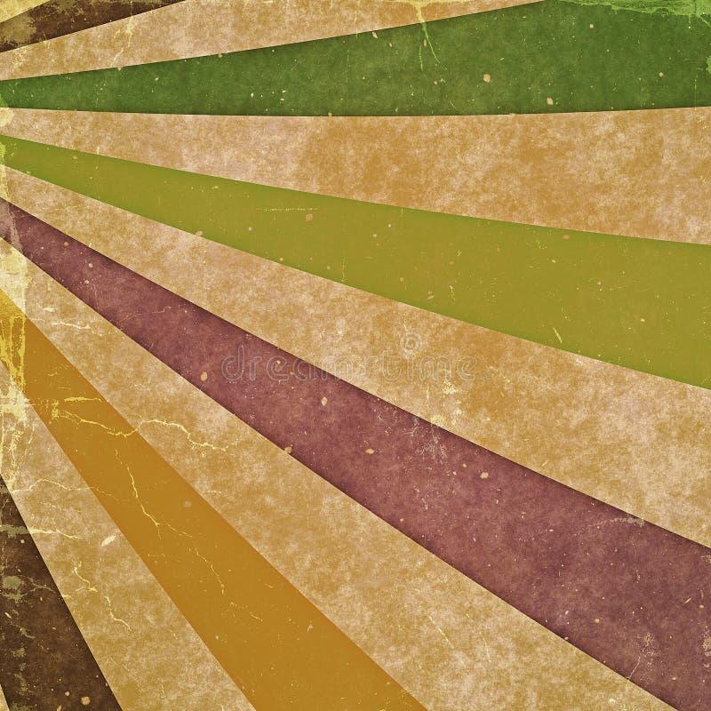 Rayons abstraits Milieux de cru d'isolement sur le blanc illustration stock