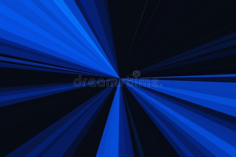 Rayons bleu-foncé de couleur de fond d'abrégé sur lumière Modèle de faisceau de rayures Couleurs modernes de tendance d'illustrat illustration libre de droits