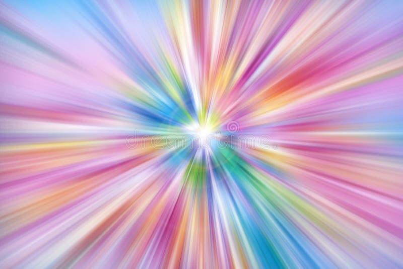 Rayons colorés d'explosion de lumière image stock