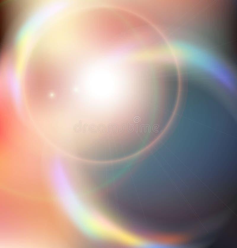 Rayons colorés de lumière. Explosion abstraite illustration de vecteur