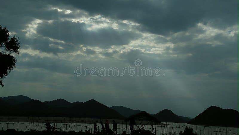 Rayons de Dieu de ciel photographie stock