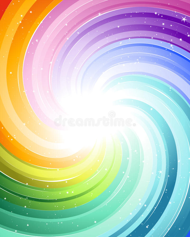 Rayons de fête de couleur illustration stock