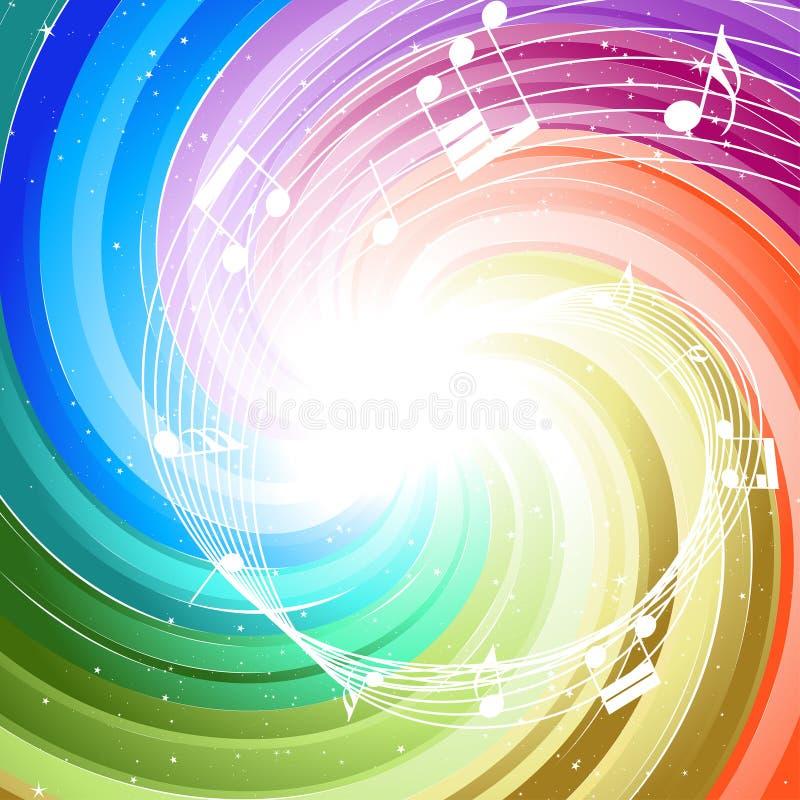 Rayons de fête de couleur illustration de vecteur