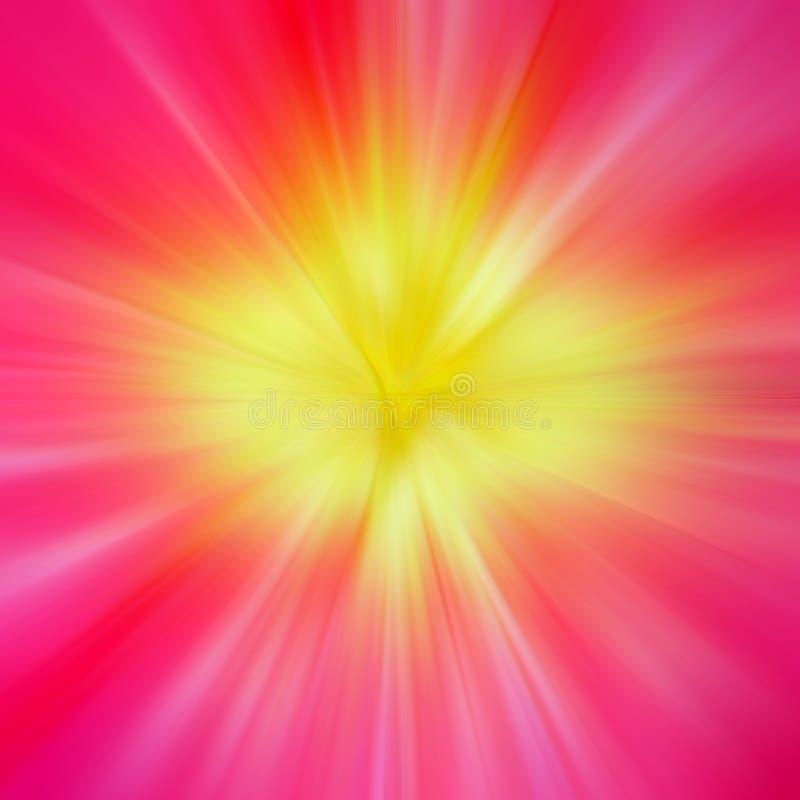 Rayons de lumière colorée illustration stock