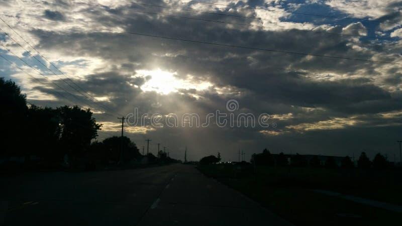 Rayons de matin images stock