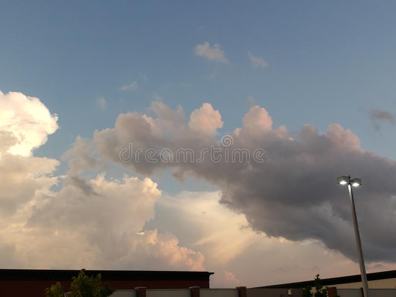 Rayons de nuage images stock