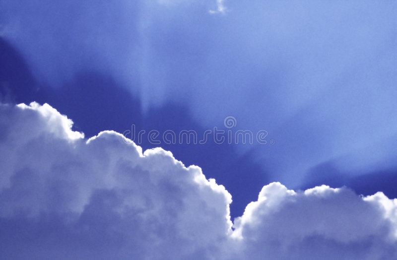 Rayons de soleil photo stock