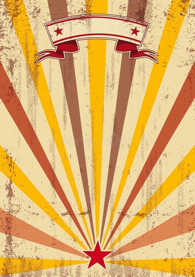 Rayons de soleil crèmes grunges de couleur illustration libre de droits