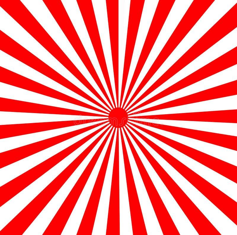 Rayons de soleil japonais de Soleil Levant illustration de vecteur