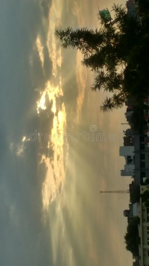 Rayons de Sun images stock