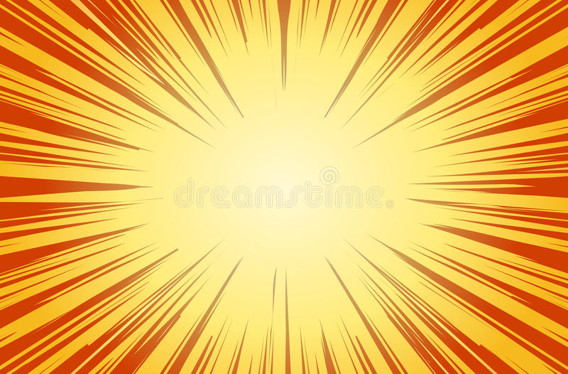 Rayons de Sun pour le vecteur radial de fond de bandes dessinées illustration de vecteur