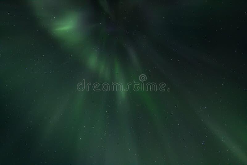 Rayons des lumières du nord photographie stock