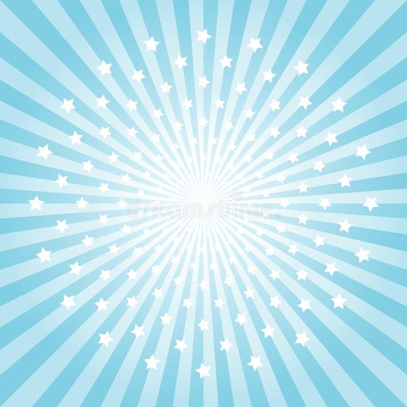 Rayons et fond bleu-clair abstraits d'étoiles Cmyk du vecteur ENV 10 illustration de vecteur