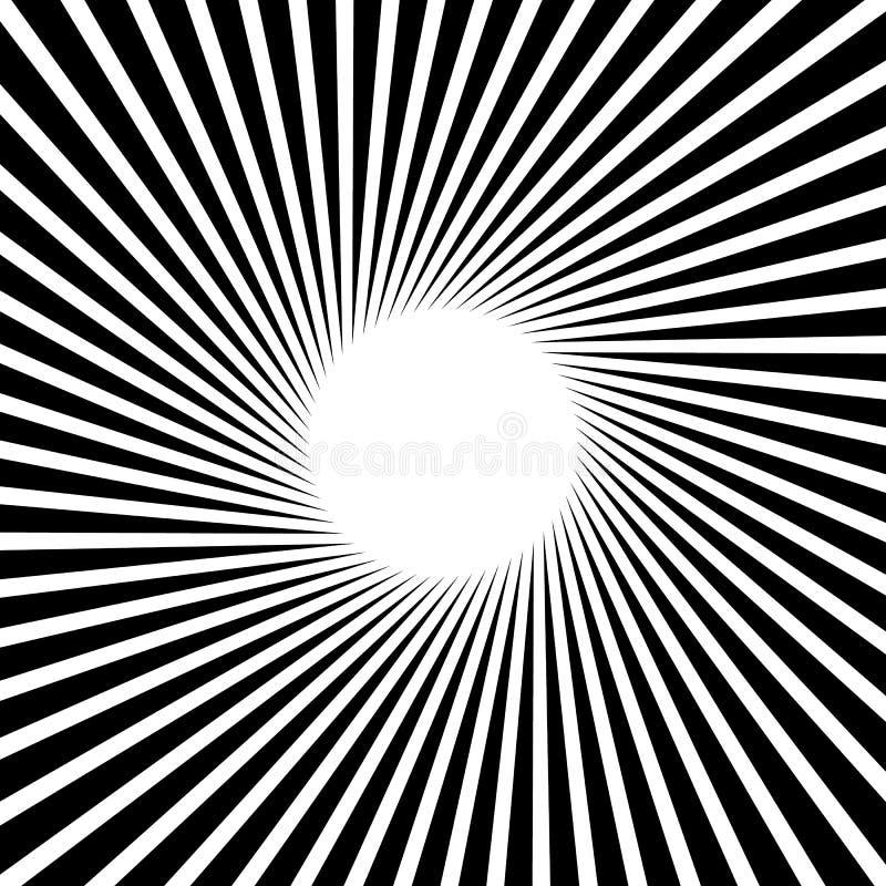 Rayons, faisceaux, modèle de rayon de soleil de starburst Lignes convergentes abst illustration de vecteur