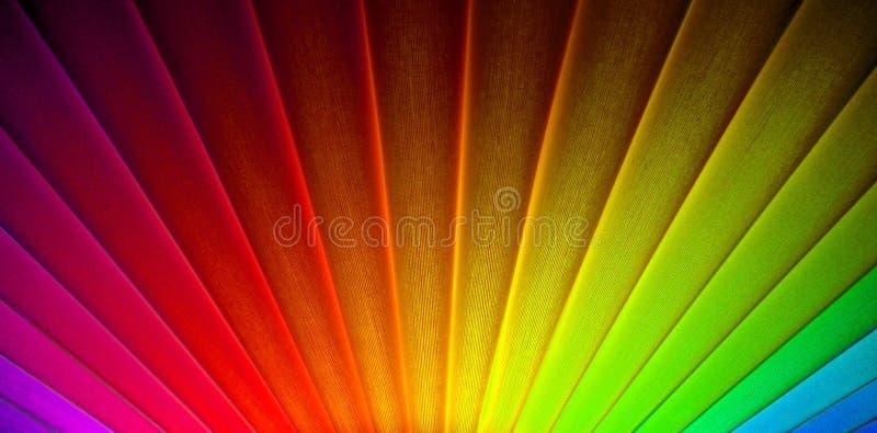 Rayons géométriques de rayon de soleil de lever de soleil d'arc-en-ciel d'art déco photographie stock libre de droits