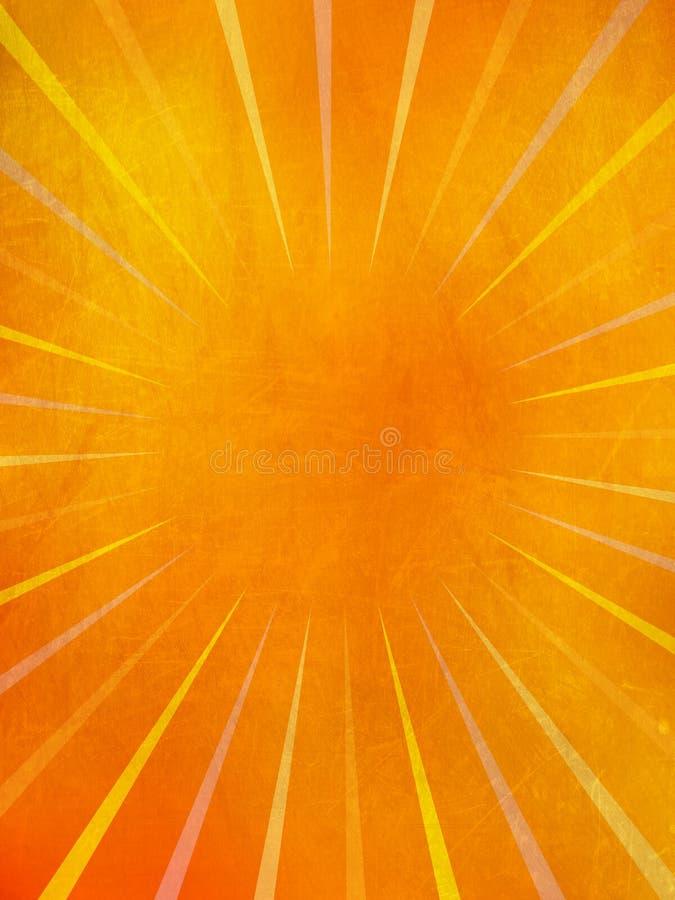 Rayons grunges du soleil photos libres de droits