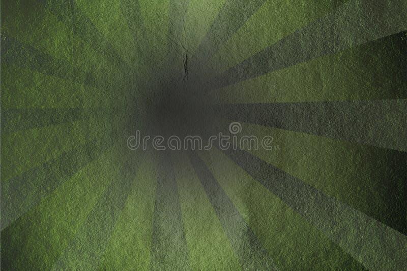 Rayons grunges - vert illustration stock