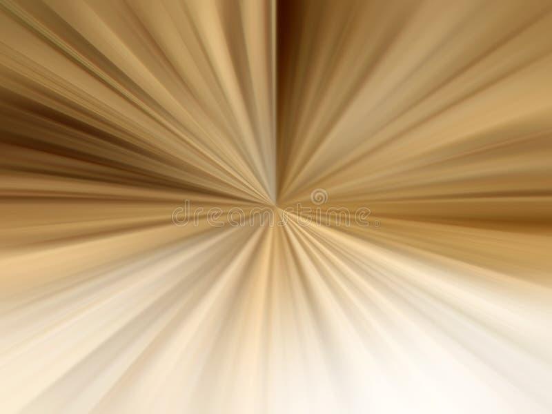 Rayons légers de Brown illustration stock