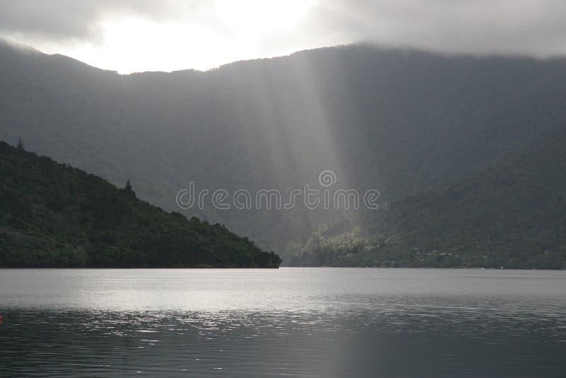 Rayons légers du Nouvelle-Zélande image libre de droits