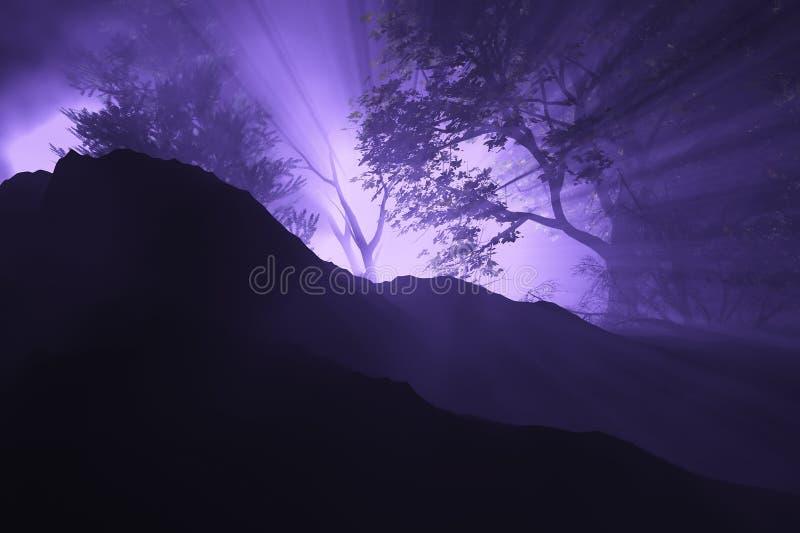 Rayons légers la nuit illustration libre de droits