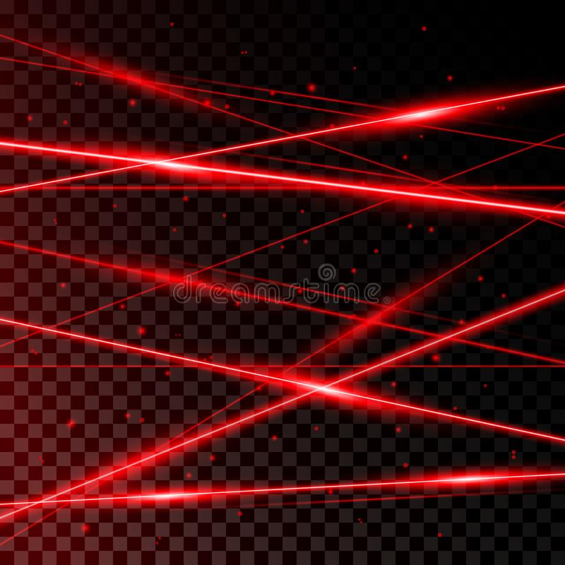 Rayons laser rouges illustration stock