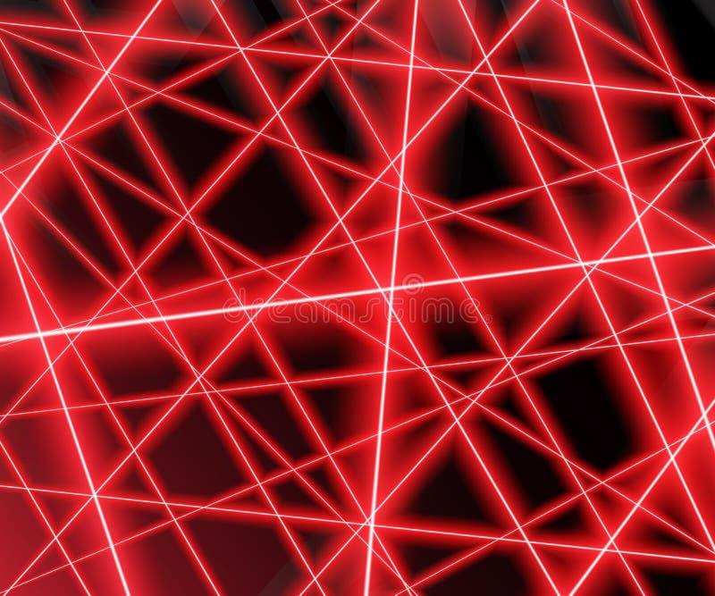 Rayons laser rouges sur un fond noir, ENV 10 illustration de vecteur