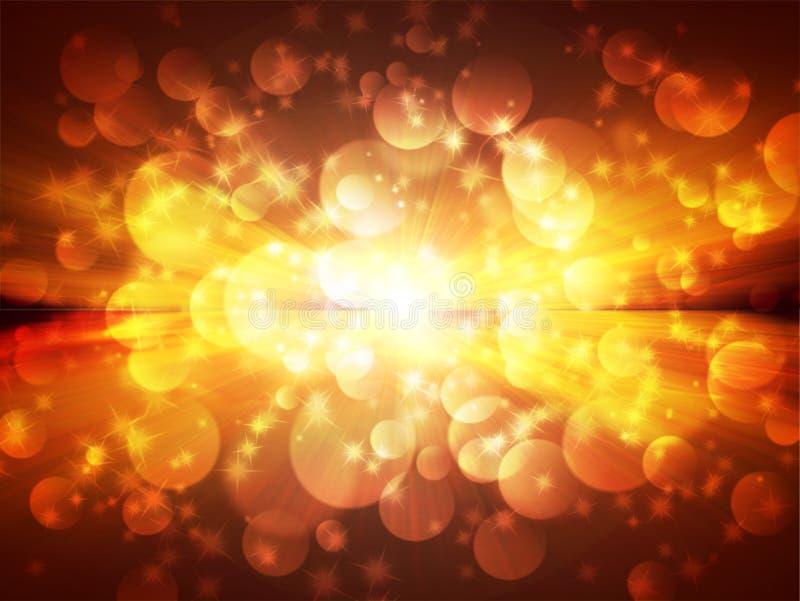 Rayons lumineux de lumière et d'étoiles illustration de vecteur