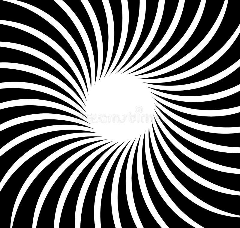 Rayons radiaux, faisceaux Fond monochrome abstrait Rad circulaire illustration stock