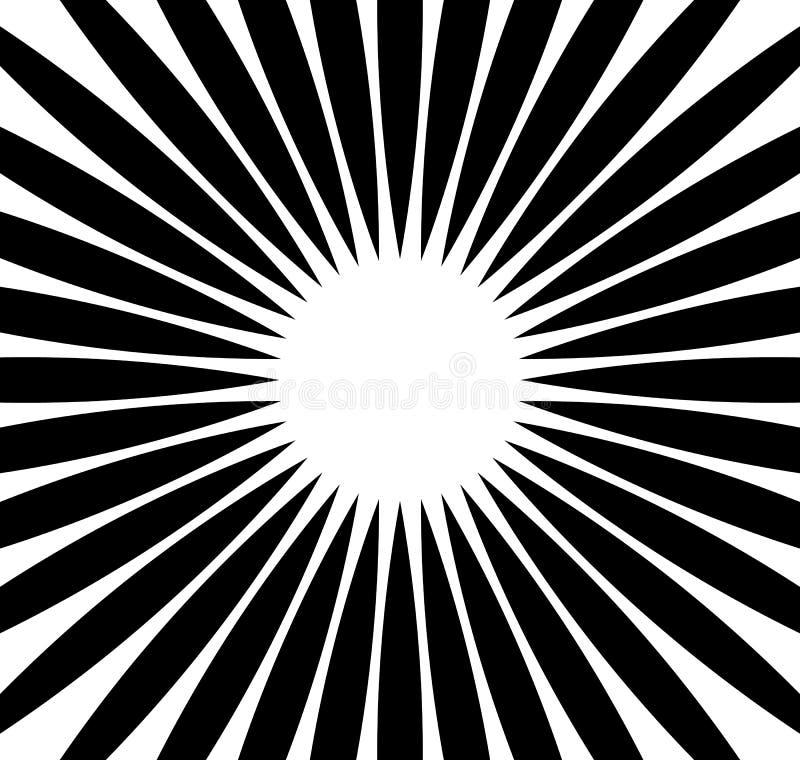 Rayons radiaux, faisceaux Fond monochrome abstrait Rad circulaire illustration de vecteur
