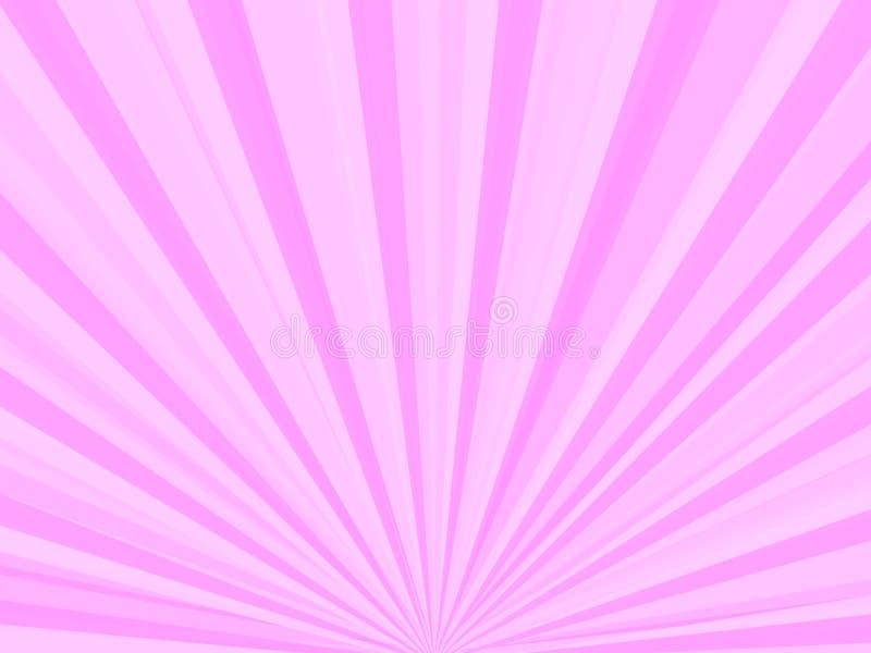 Rayons roses illustration de vecteur