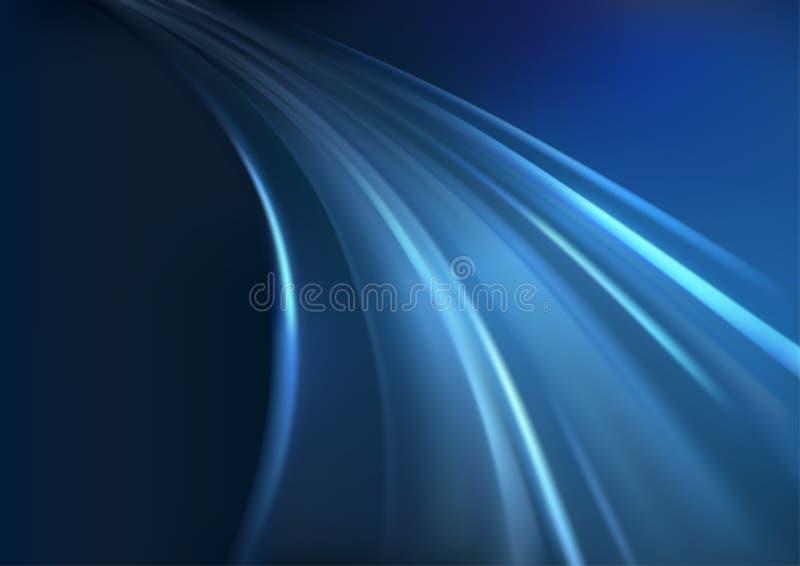 Rayons rougeoyants bleus illustration de vecteur