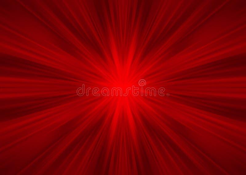 Rayons symétriques rouges illustration stock