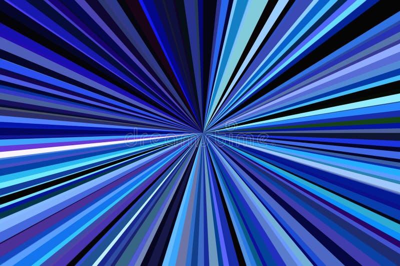 Rayos azul marino del color del fondo del extracto de la luz Modelo del haz de las rayas Colores modernos de la tendencia del eje libre illustration
