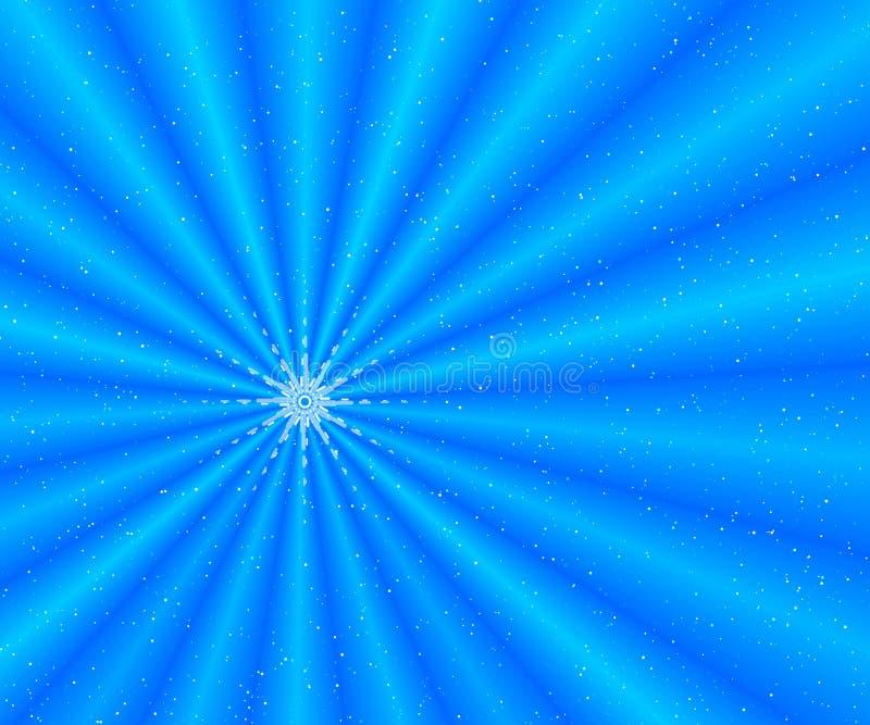 Rayos azules de la nieve ilustración del vector