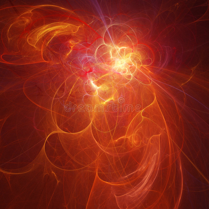 Rayos brillantes del fuego stock de ilustración
