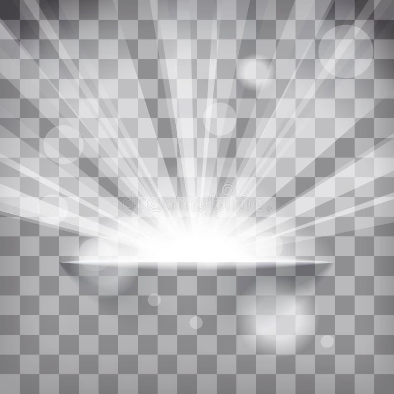 rayos de destello en un fondo a cuadros ilustración del vector