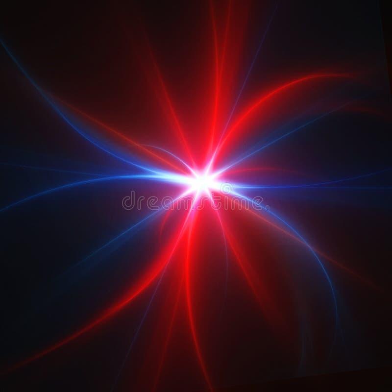 Rayos de la estrella stock de ilustración