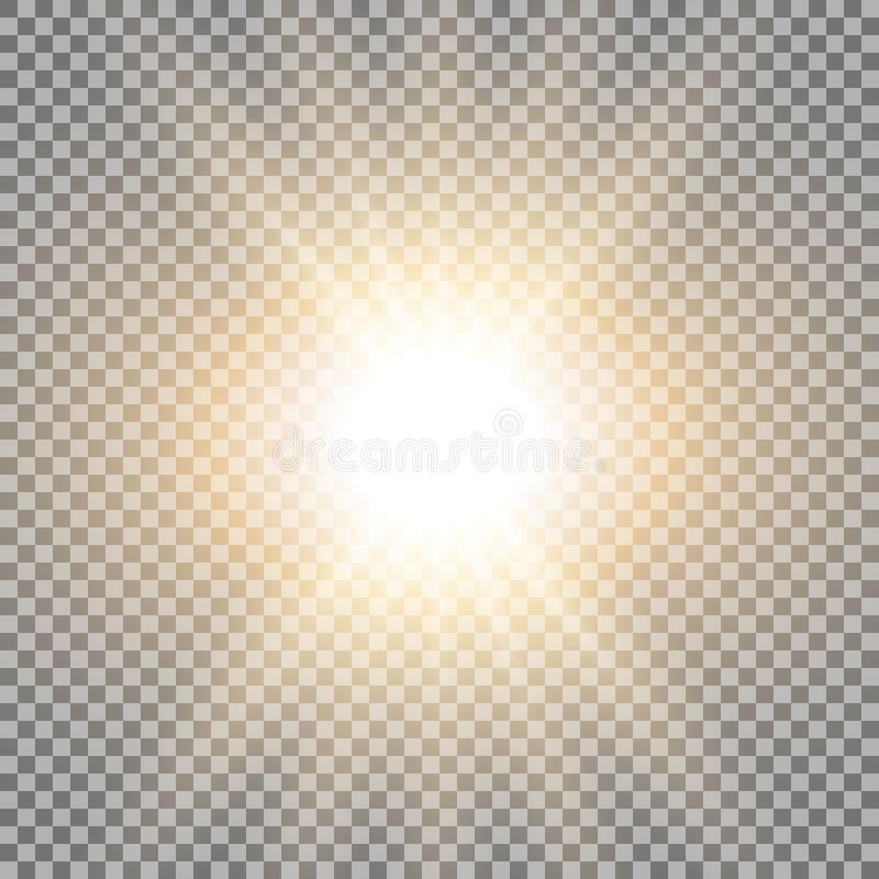 Rayos de la luz, color de oro stock de ilustración