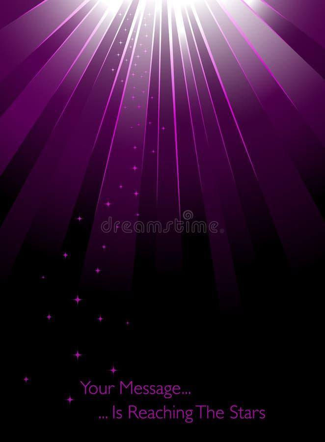 Rayos de la luz púrpuras stock de ilustración