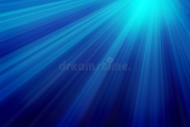 Rayos de la luz subacuáticos ilustración del vector