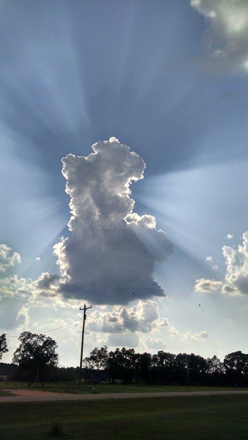 Rayos de los cielos imagen de archivo