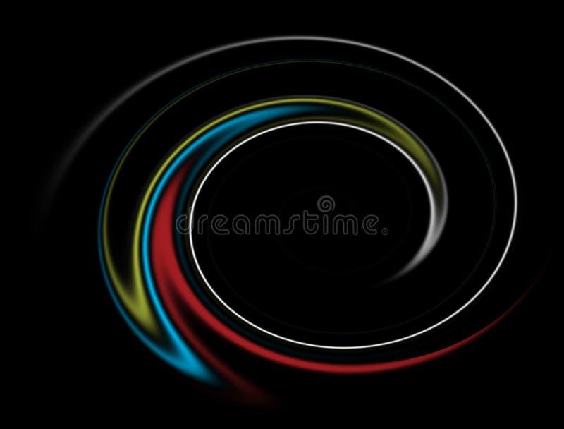 Rayos de luz impresionantes de la iluminación del papel pintado ilustración del vector