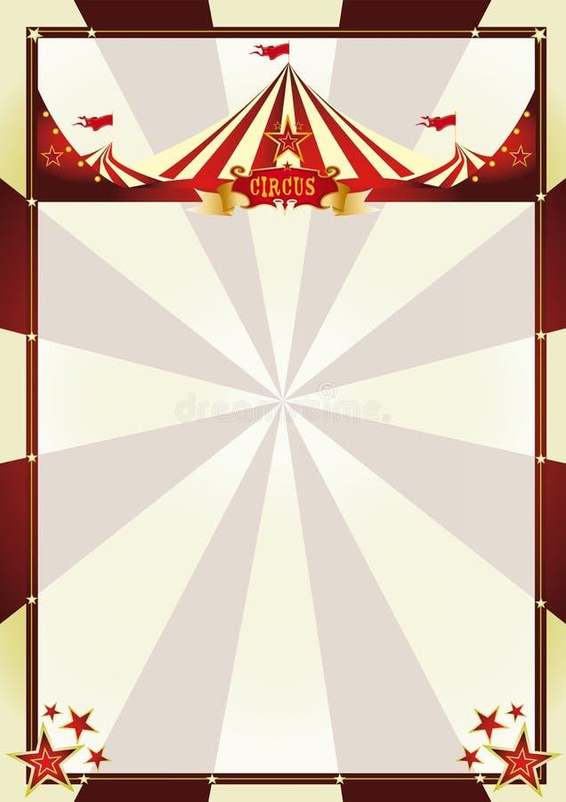 Rayos de sol del circo del fondo del vintage ilustración del vector