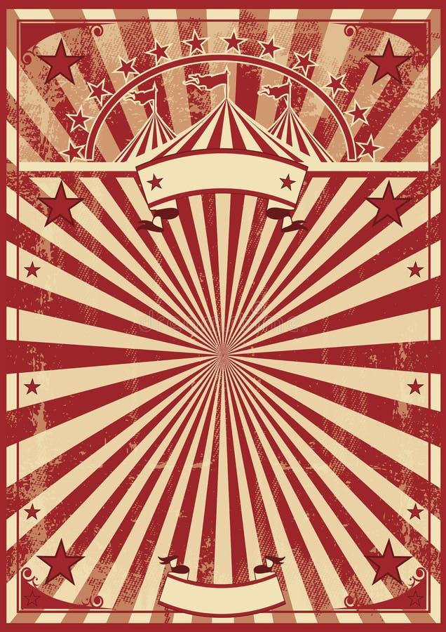 Rayos de sol del rojo del vintage ilustración del vector
