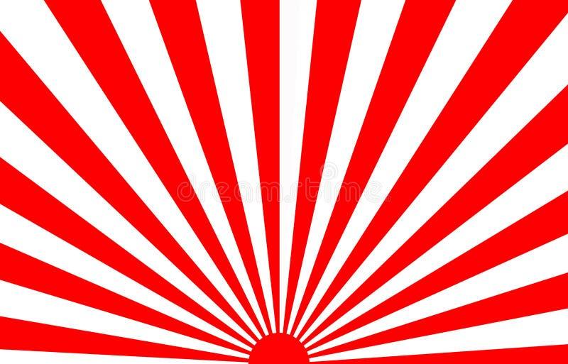 Rayos de sol japoneses del sol de levantamiento libre illustration